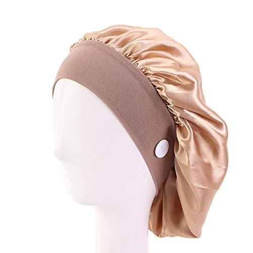 hangzhoushiJacob Elsie – Cinta de pelo para mujer, bandana, gorro elástico, gorro con botón, Yoga., Dorado.
