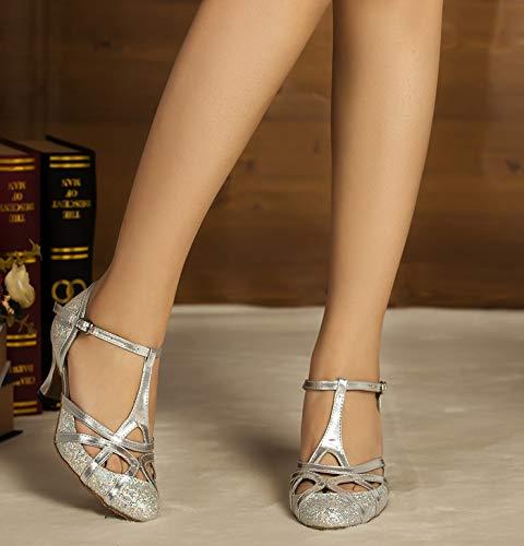 Minitoo , Damen Tanzschuhe, Silber – silber – Größe: 37.5 - 4