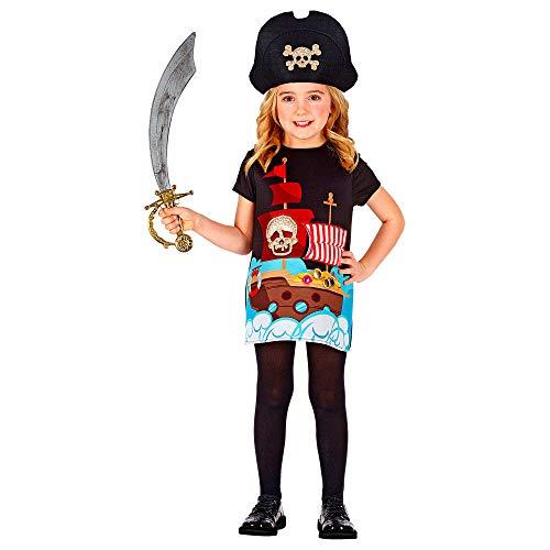 WIDMANN 01250 - Disfraz infantil de capitn pirata (98 cm), color negro , color/modelo surtido
