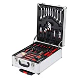 799 Piece Tool Set - General Household Hand Tool Kit - Wrenches Spanners Hex Socket Inserts - with Aluminum Trolley Case Toolbox Storage Case