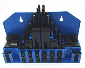 HHIP 3900-2112 58 Piece Clamping Kit (7/16 Inch T-Slot) Stud Size 3/8-16
