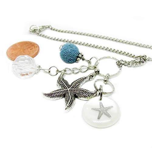Starfish Rear View Mirror Car Charm - Essential Oil Crystal Car Diffuser - Aromatherapy Gift for Women