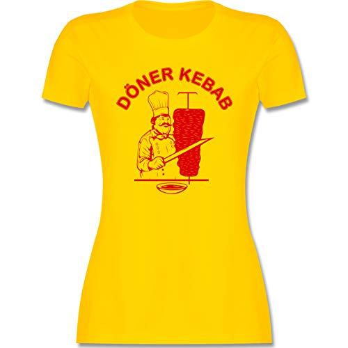 Statement - Original Döner Kebab Logo - XXL - Gelb - döner kebap - L191 - Tailliertes Tshirt für Damen und Frauen T-Shirt