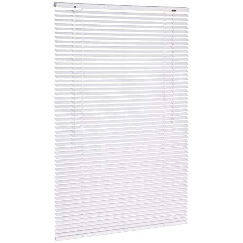 AmazonBasics - Persiana veneciana de aluminio, 90 x 130 cm, Blanco