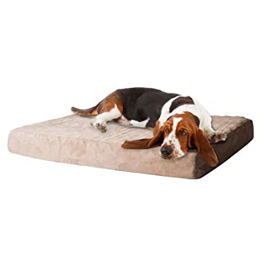 PETMAKER Memory Foam Dog Bed with Removable Cover, X-Large