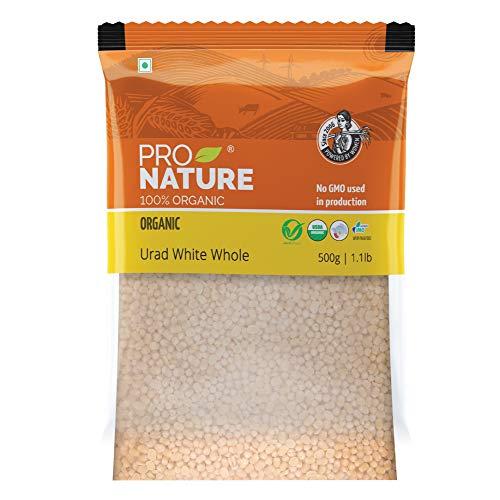 Pro Nature Organic Pulses, Urad White Whole, 500g