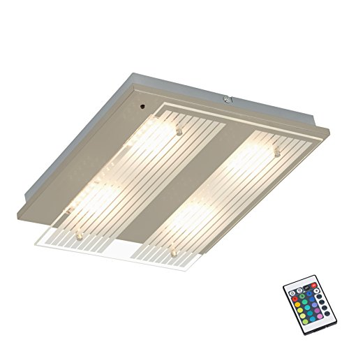 Briloner Leuchten 3621-042 LED plafondspot, plafondlamp, kleurregeling/kleurverandering met afstandsbediening incl. 16 kleurprogramma's, dimbaar