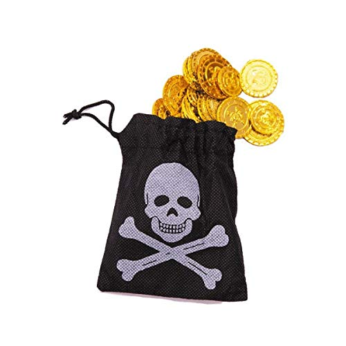 Partypro Bourse Pirate 50 Pieces d Or