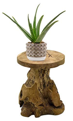 Möbelbörse Teak Hocker Sitzhocker Blumenhocker Beistelltisch Nachttisch Pflanzenhocker Blumenpodest Holz