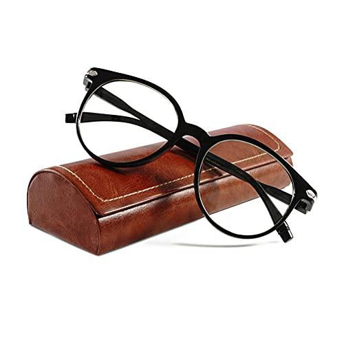 KOOSUFA Blaulichtfilter Brillen Anti Blaulicht Brillen Ohne Sehstärke Damen Herren Computer Gaming Brillen Anti Müdigkeit Leicht Retro Brillengestelle mit Etui (Matt Schwarz)