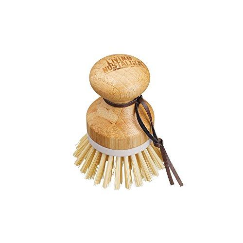 Kitchencraft Living Nostalgia de madera cepillo de lavado/verduras scrubber-small redondo mango, madera, marrón, 6,5x 6,5x 9cm