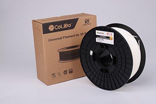 CoLiDo 3D Filament di stampa PLA 1.75mm Spool, bianco flessibile 1kg LCD014WQ7J