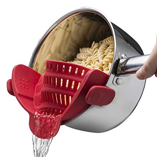 Clip 1 Pcs Universal de Silicona Colador Pot Embudo colador Novedades para la Cocina