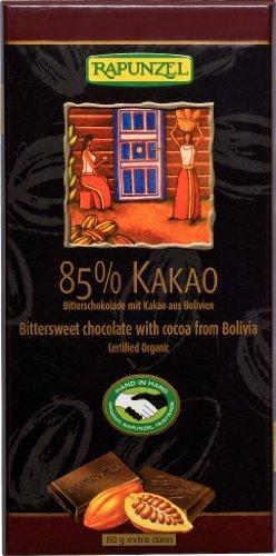 Rapunzel Bio Bitterschokolade 85% Kakao HIH (6 x 80 gr)