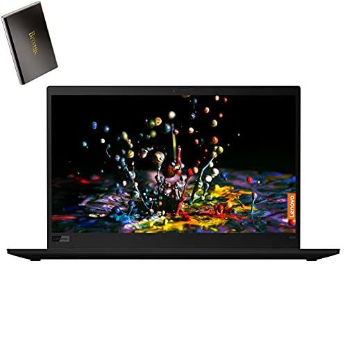 Computer portatile aziendale Lenovo ThinkPad X1 Carbon 14' FHD, Intel Quad-Core i7 8665U fino a 4.6 GHz, 16 GB di RAM, SSD PCIe da 512 GB, lettore di impronte digitali, KB retroilluminato, Windows 10 Pro, HD esterno BROAGE da 320 GB