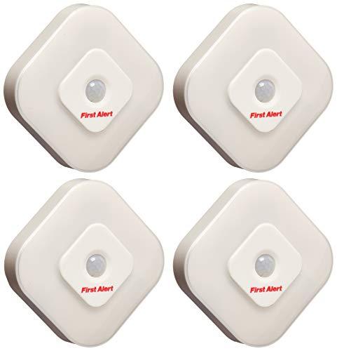 First Alert SFA265 Indoor Motion Sensor LED Lights, 4 Pack