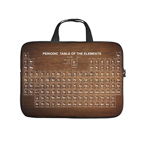 Periodic Table Laptop Bag Wear-Resistant Notebook Sleeve Notebook Bag for University Work Business