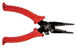 Bubba Blade needle pliers with red grips.