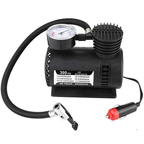 Gonfiatore Pneumatico Portatile Pompa di Aria 300PSI Pompa per Compressore d'aria per Biciclette Motocicli Automobile 12V