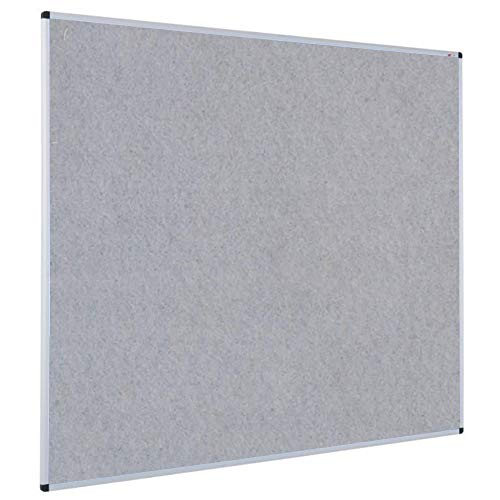 VIZ-PRO Pinnwand - Textil/Filz (grau) - mit Alurahmen - 90 x 60 cm