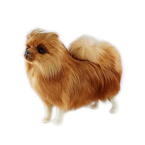 FATEGGS Simulación de Peluche Juguetes Juguete de simulación de Pomerania Realista Puppy Cachorro Realista simulación...