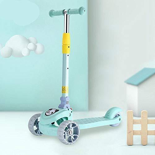 El Asiento Plegable De La Scooter Resbaladiza De La Vespa De Los Niños Puede Sentarse Hummer Wheel Azul Cielo