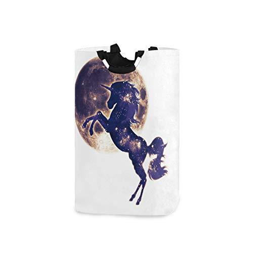 DOSHINE Wäschekorb, magisches Einhorn, Tier, Galaxie, groß, Wäschesammler, faltbar, Einkaufstasche, Schmutzwäsche Tasche, Aufbewahrungskorb