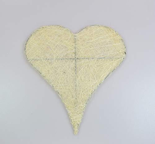 wertheim-deko 2 Sisalherzen Herzen aus Sisal flach 20 x 22 cm Hochzeit