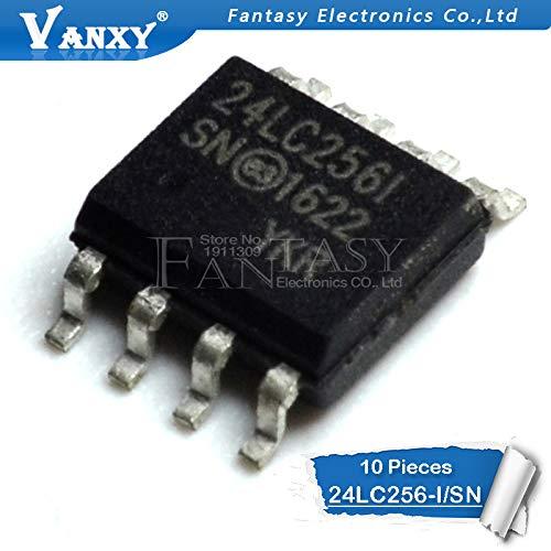10 STÜCKE 24LC256-I/SN SOP 24LC256I SOP8 SMD 24LC256 SOP-8