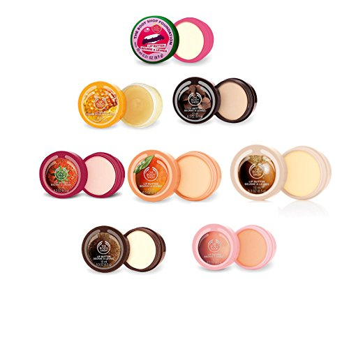DIe Body Shop LippenBUTTER 10 ml-Packung mit 2 Zufalls-Shea-Kokosnuss-Rosa Pampelmuse-Mango-Chocomania-Honeymania / The Body Shop Lip BUTTER 10ml-Pack of 2 Random-Shea-Coconut-Pink Grapepfruit-Mango-Chocomania-Honeymania-Strawberry