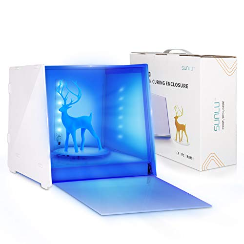 UV Resin Curing Light Box for SLA/DLP/LCD 3D Resin Printer,Sunlu UV Curing Light Lamp with 360°Rotating Stand,6 high Power 405nm UV Resin Light with Smart Time Control,Work with Intelligent Safe Door…