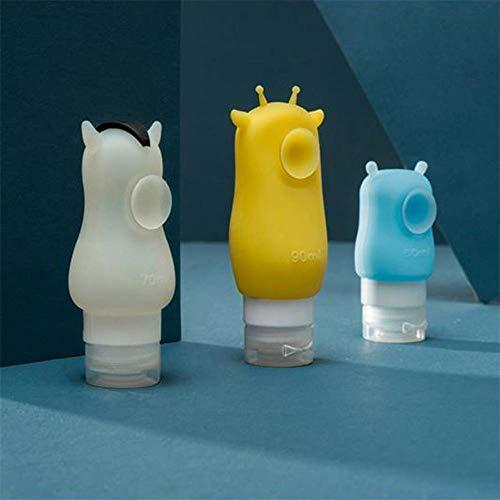 Portable Silicone bouteilles de voyage multifonctionnel cosmétiques Shampooing Lotion Container mignon Dessin animé Animal Hippopotame/cheval/girafe