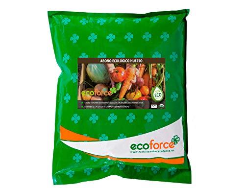 CULTIVERS Abono - Fertilizante Ecológico de 5 kg Especial para el Huerto. Origen 100% Orgánico y Natural Microgránulado. Mejora la Productividad de los Cultivos