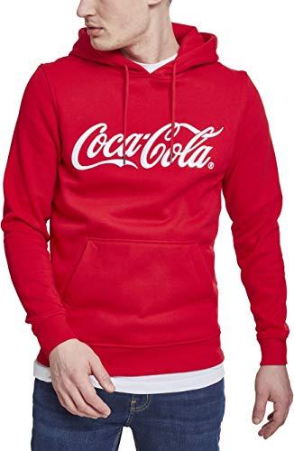 MERCHCODE Herren Coca Cola Classic Hoody Kapuzenpullover, red, XL