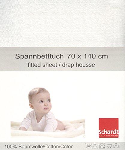 Schardt 13 850 11 - Sábana Bajera Ajustable, Color Blanco