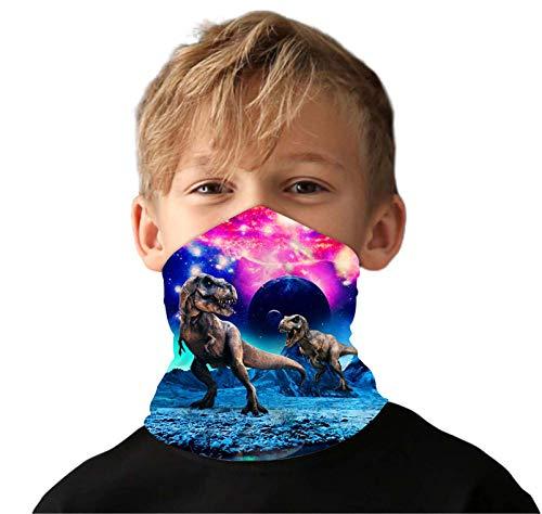 Kids4ever Junge Multifunktionstuch Halstuch 3D Dinosaurier Halstuch Bandana Atmungsaktiv Sonnenschutz Stirnband Kopftuc Schlauchtuch Laufschal für Radfahren Klettern Motorrad Outdoor