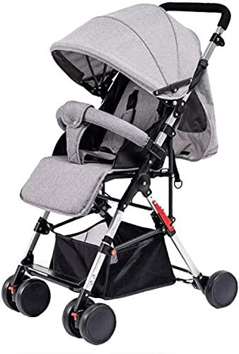 Cochecitos de bebé ligero paraguas Cochecito de bebé con respaldo para cochecito de bebé todo terreno City Select Cochecito compacto convertible (color: gris)