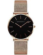 レディース 腕時計 Hannah Martin おしゃれ クラシック シンプル 女性 時計 ビジネス 日本製クォーツ watch for women