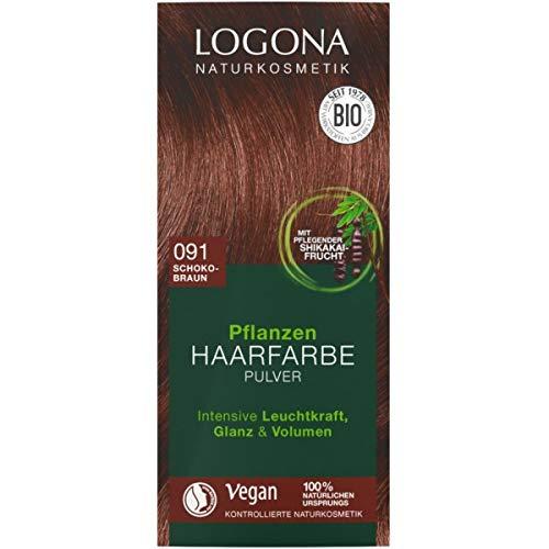 Logona Pflanzen-Haarfarbe-Pulver schokobraun (100 g)