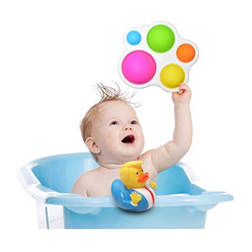 MMPY Niños pequeños envejecen el juguete pequeño de pato de goma, bebe sensorial simple juguetes de hoyuelos, pvc Donald Trump Pato de goma, batas de bebé Duckies Squeeze Toys, toys sensory fidget Toy