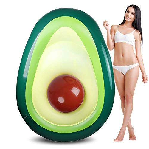 WYJBD Avocado Pool Float Inflatable Giant Float, Quick Valve, Durable Vinyl Material, Strong Buoyancy, Safety Durable, Can Rapid Inflated, For Camping Beach Swimming Pool