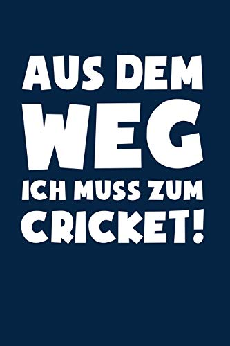 Muss zum Cricket!: Notizbuch / Notizheft für Kricket Cricket Set Kricket Set A5 (6x9in) dotted Punktraster