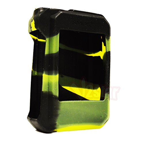 VAPORIDER Silicone Protective Case Cover Sleeve Skin Wrap for Smok G-Priv 220W - 1pc (Black/Green)