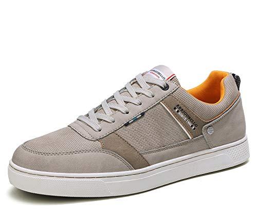 ARRIGO BELLO Freizeitschuhe Herren Sneaker Walkingschuhe Berufsschuhe Wanderschuhe Leichte Trainers Größe 40-46 (44 EU, Khaki)