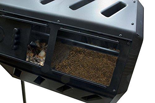 FCMP Outdoor IM4000 Dual Compost Tumbler, 37 gallon, Black