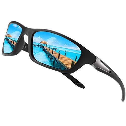 Perfectmiaoxuan Gafas de sol polarizadas para hombre mujer/Golf de pesca fresco Ciclismo El golf Conducción Pescar Alpinismo Deportes al aire libre Gafas de sol (A/blue)