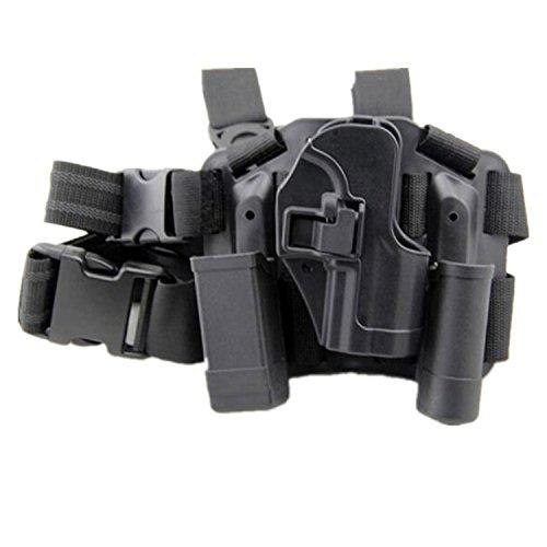 H World EU La táctica de serpa para pierna derecha con pistola para cinturón H & K USP Compact BK