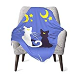 Sailor Moon Moon Kitties Unisex Baby Blanket Super Soft Reversible Nursery, Swaddle Stroller Infant & Toddler Bedding for Kids 30 x 40 Inch(76x102cm)