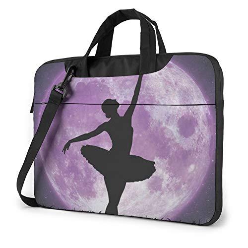 Ballerina Dance Laptop Bag Briefcase Shoulder Mesenger Bag for Women Men 13 Inch