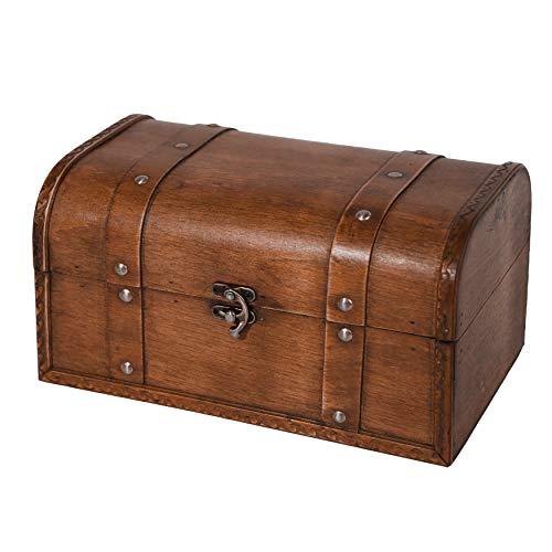 Soul & Lane Benjamin Decorative Wooden Suitcase Storage Trunks